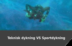 Teknisk vs Sportdykning