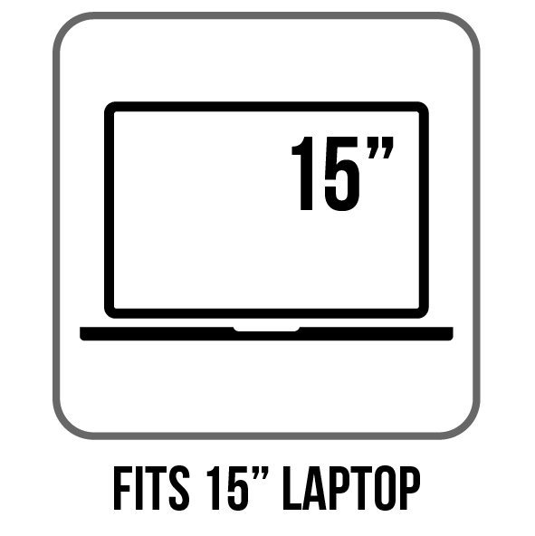 fits up to 15-inch laptop