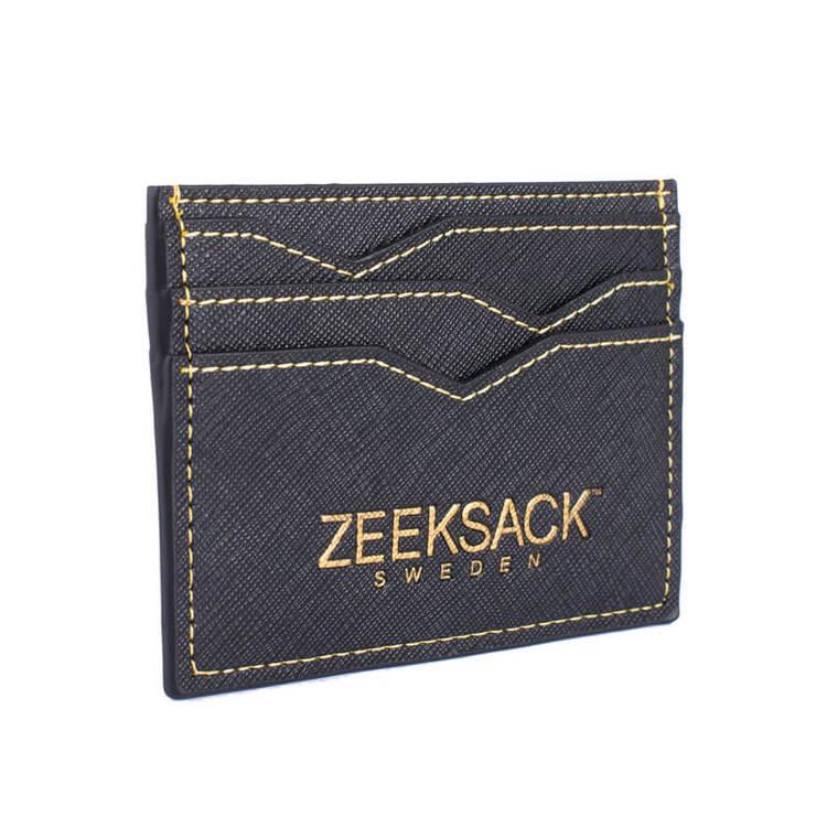 Slim Wallet - Black/Gold