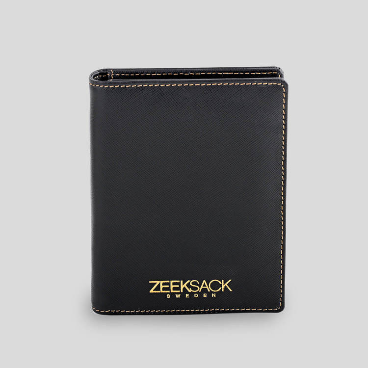 Black Saffiano Leather Passport Cover