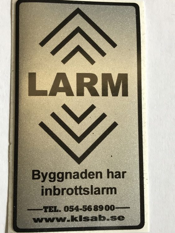 LARMDEKAL 84X50MM