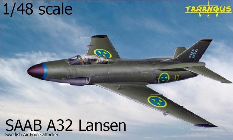 SAAB A32A Lansen attacker 1/48