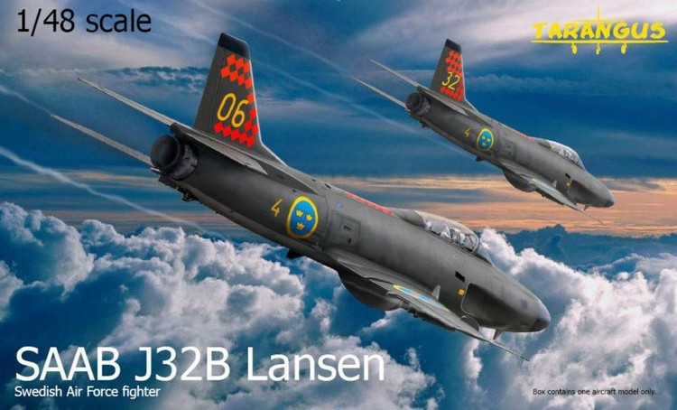 SAAB J32B Lansen fighter 1/48