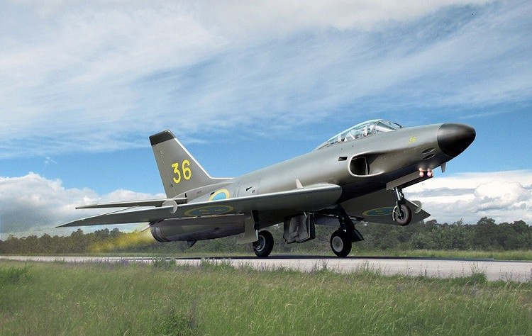 SAAB J32B Lansen fighter