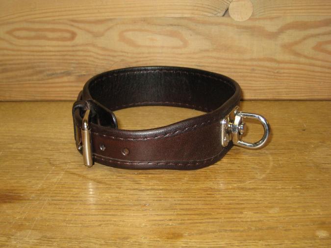 Hundhalsband läder