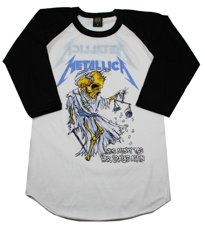 Metallica The money tips her scales again baseballshirt