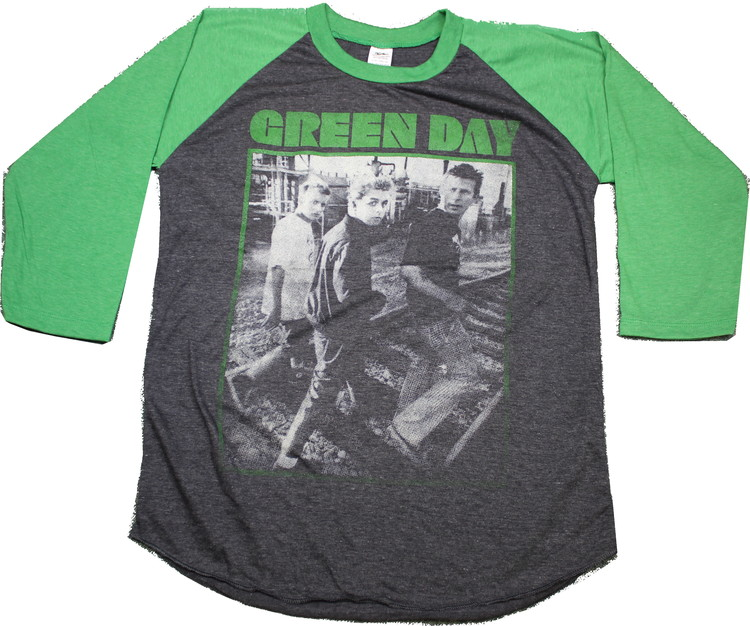 Green day baseballshirt