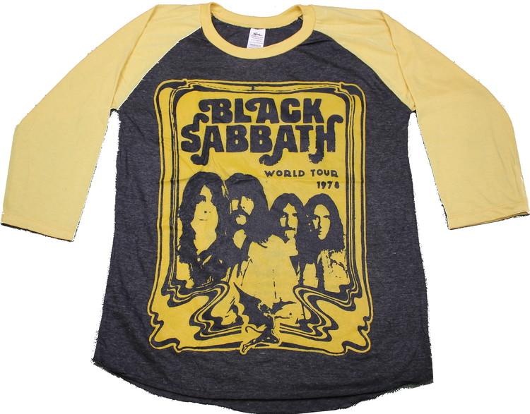 Black sabbath 1978 baseballshirt