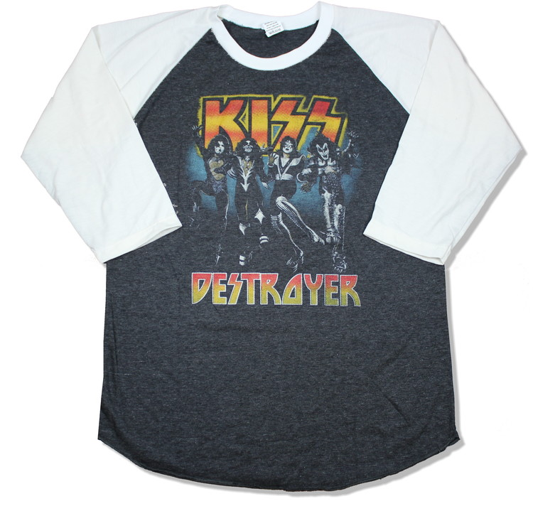 Kiss destroyer baseballshirt
