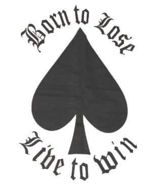 Born to loose/live to win baseballshirt