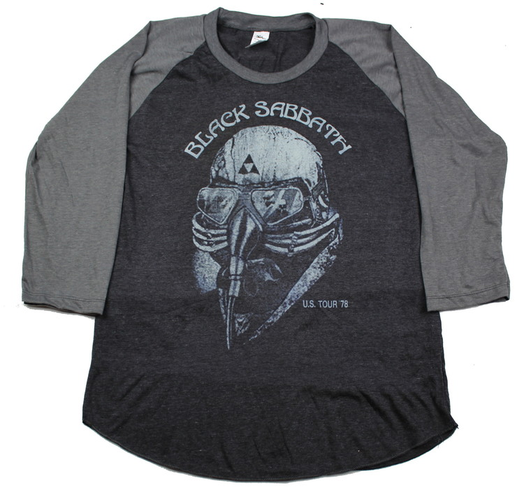 Black sabbath US tour-78 baseballshirt