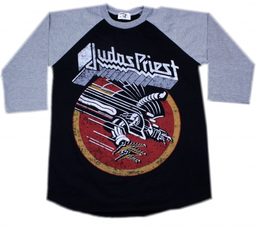 Judas priest screaming for vengance Grey baseballshirt