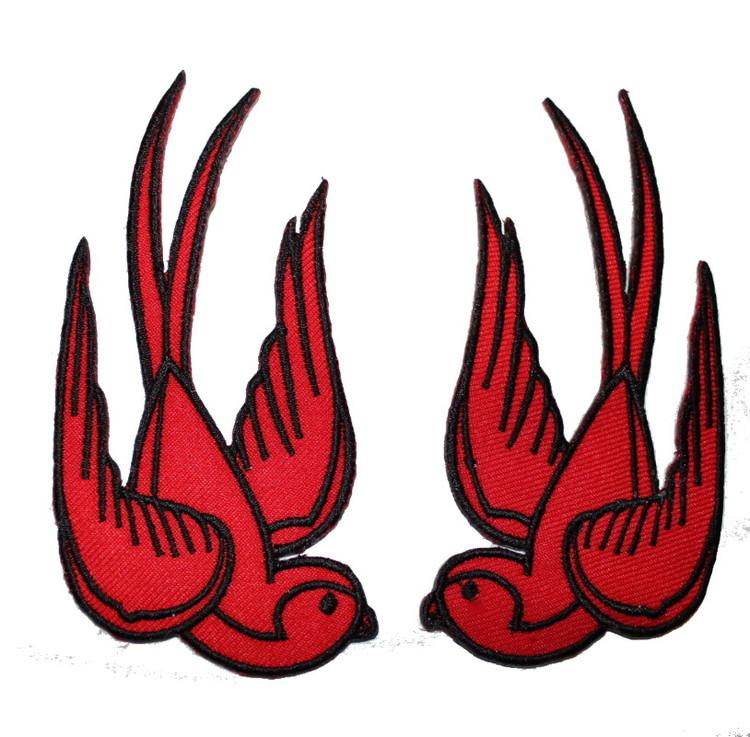 Röda svalor Par