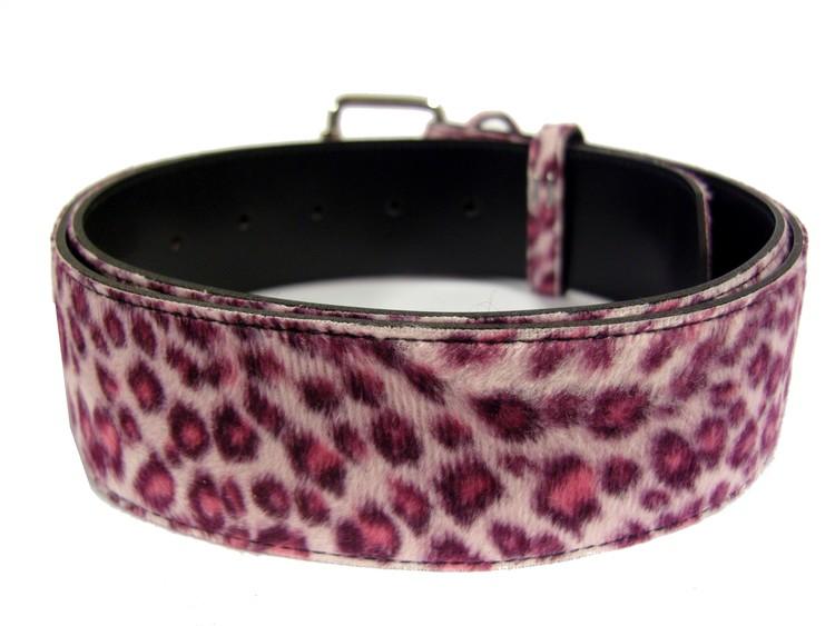Bälte leopard rosa