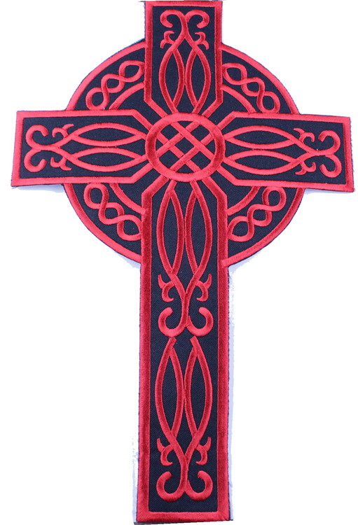 Celtic cross red XL