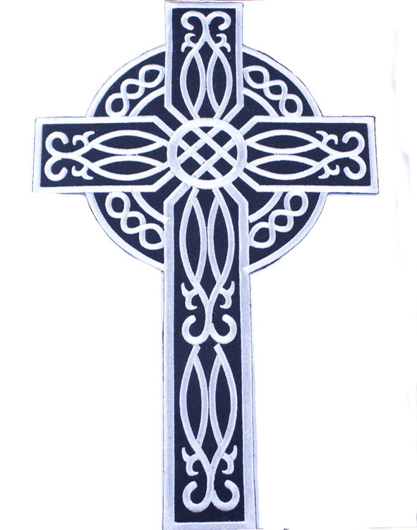 Celtic cross white