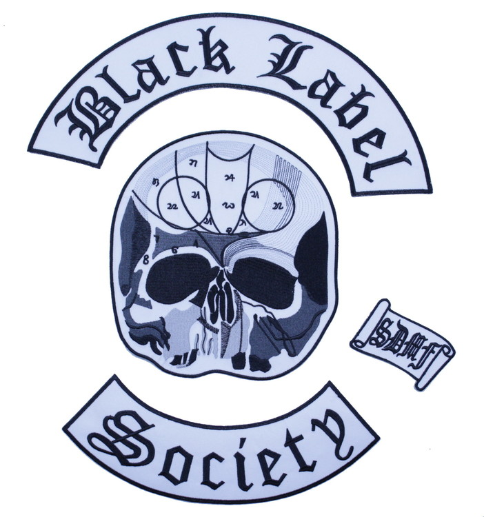 Black label society backpatch XL