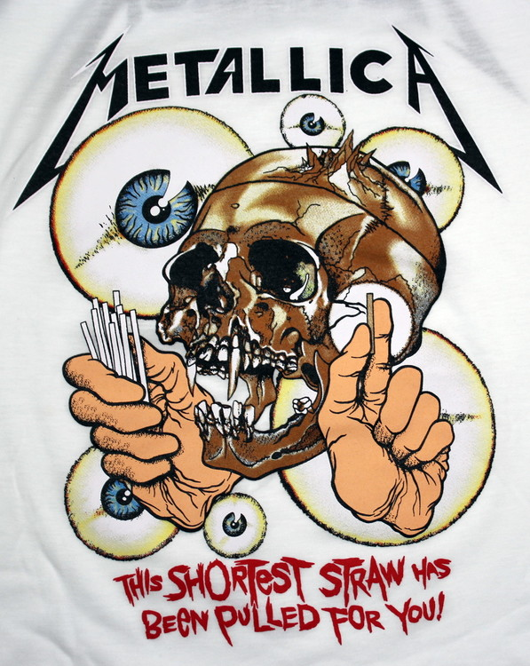 Metallica The shortes straw has been pulled for you baseballshirt