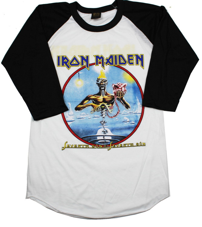 Iron maiden Seventh son of the seventh son baseballshirt