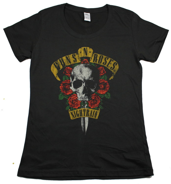 Girlie t-shirt Guns n roses Night train