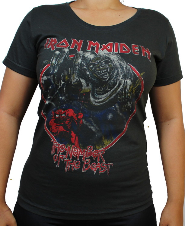 Girlie t-shirt Iron maiden Number of the beast