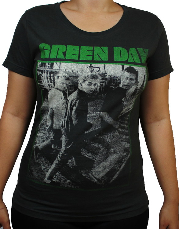 Green day Girlie t-shirt