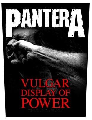 Pantera Back Patch: Vulgar Display Of Power
