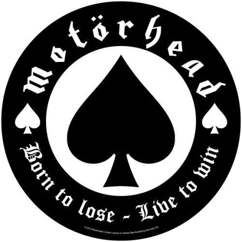 Motörhead Back Patch: Born To Lose