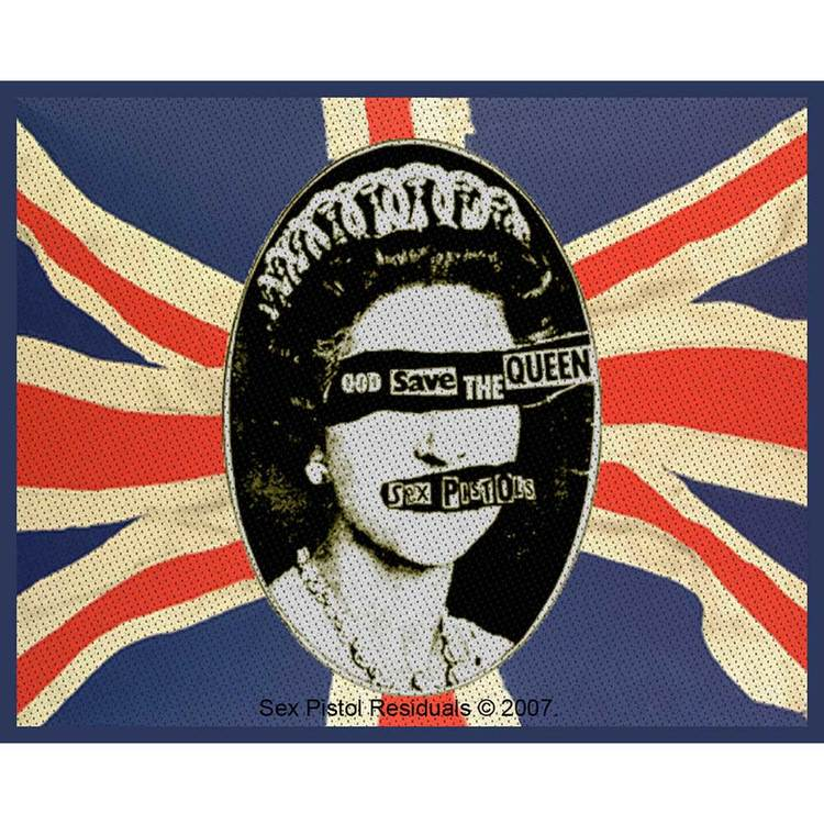 The Sex Pistols Standard Patch: God Save The Queen