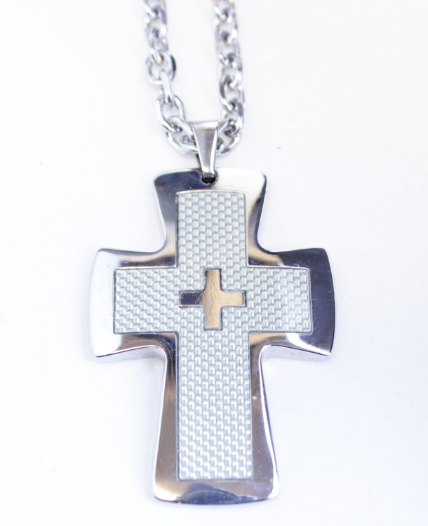 Halsband Cross carbon