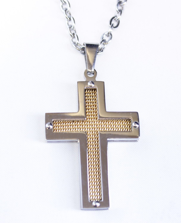 Halsband Cross goldcarbon