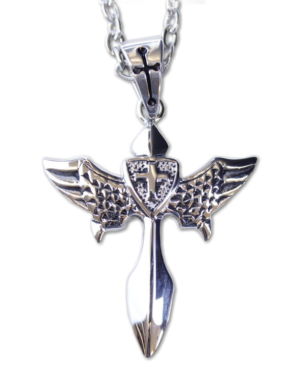 Halsband Cross/wings