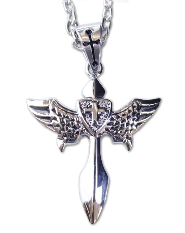 Halsband Cross/wings