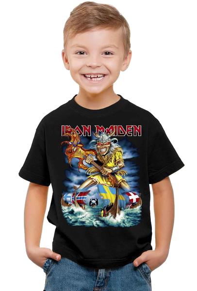 Iron maiden vikings Barn t-shirt