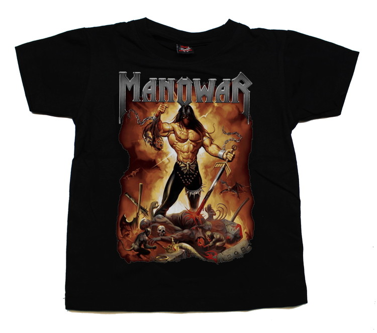 Barn t-shirt Manowar Fire and blood