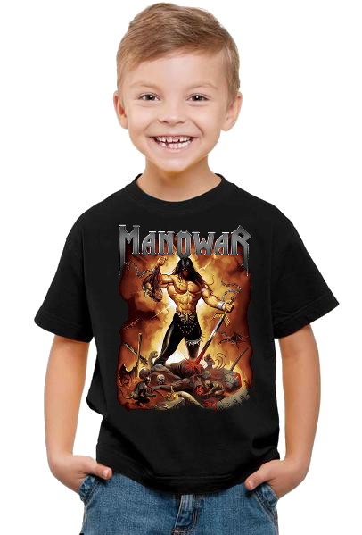 Manowar Fire and blood barn t-shirt