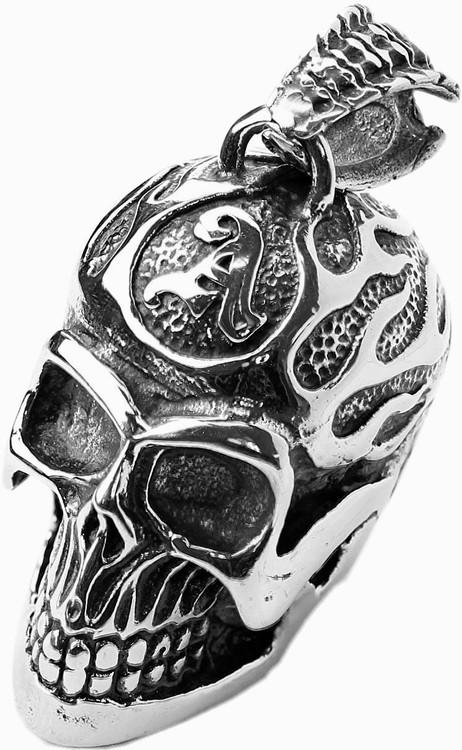 Halsband Skull/fire