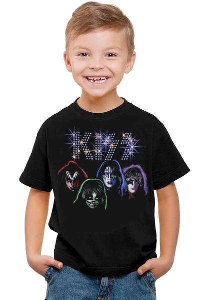Kiss Bling logo Barn t-shirt