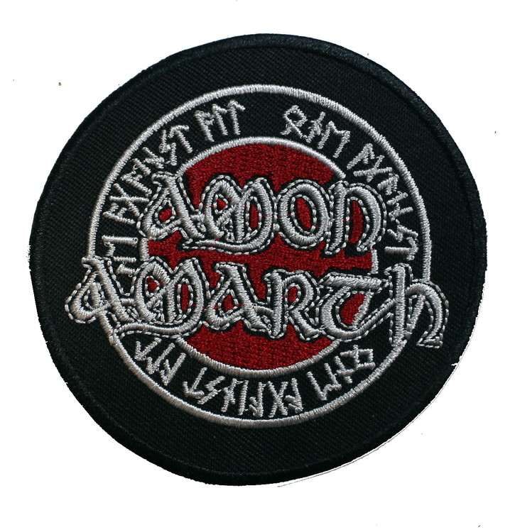 Amon amarth round Red