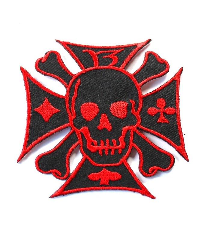 Skull 13 röd