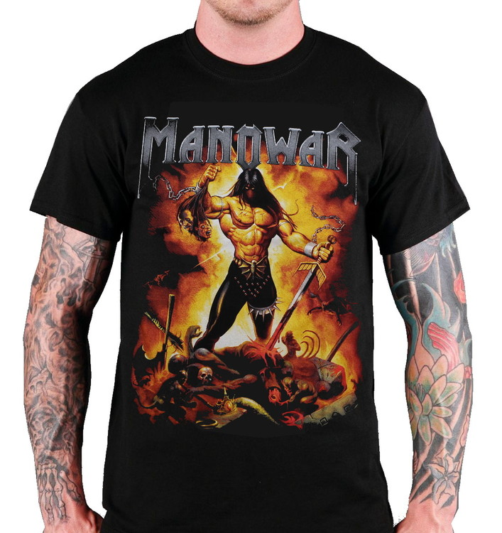 Manowar Fire and blood T-shirt