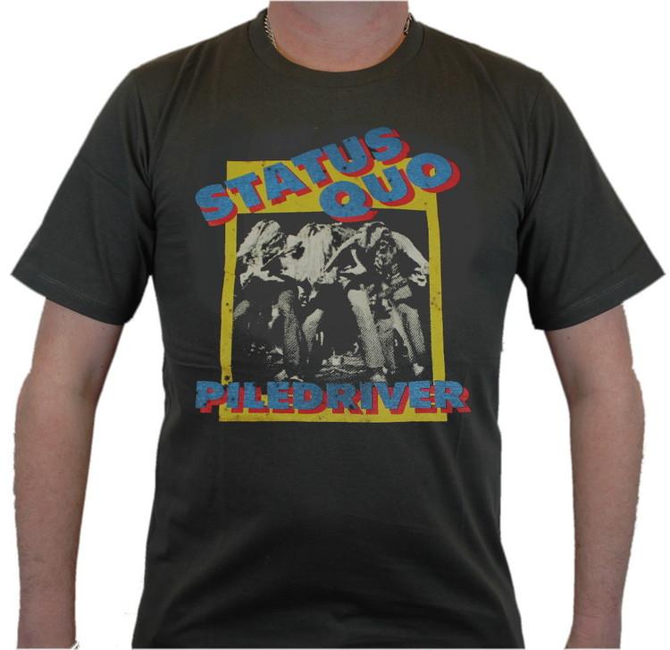Status quo Piledriver Svart T-shirt