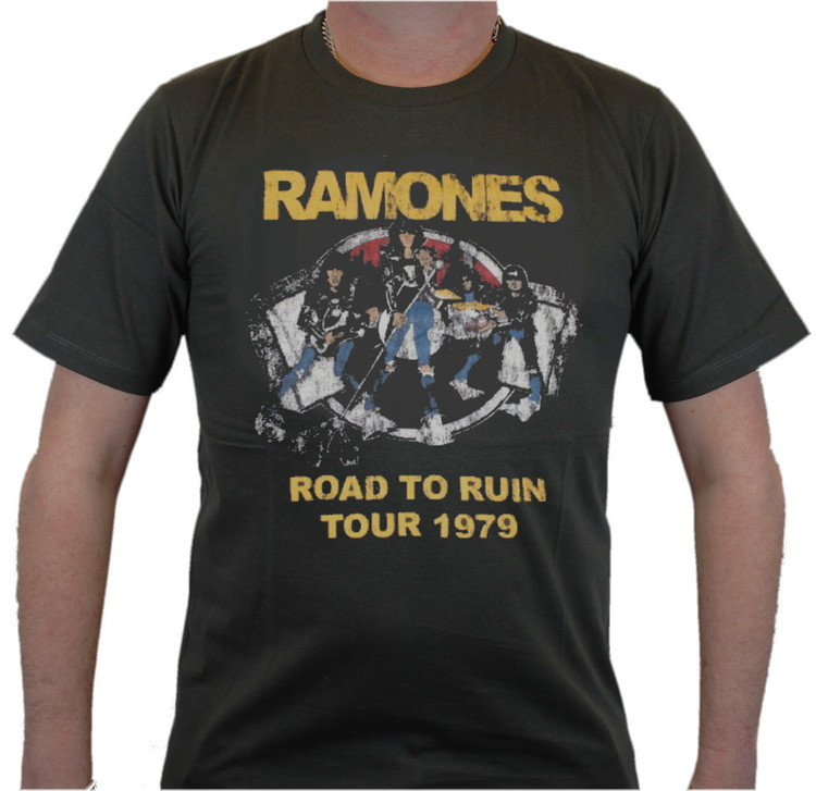 Ramones Road to ruin tour 1979 T-shirt