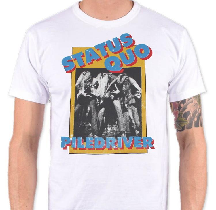 Status quo Piledriver Vit T-shirt