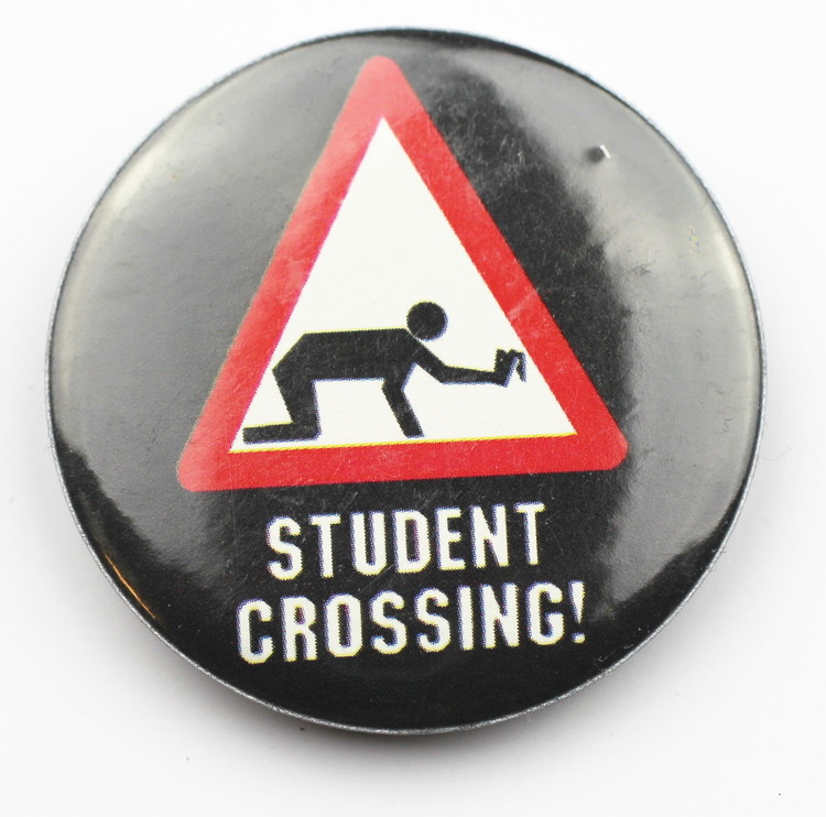Pin Student crossing