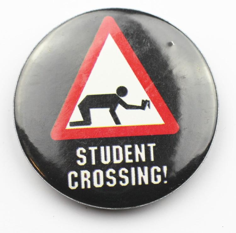 Pin Student crossing