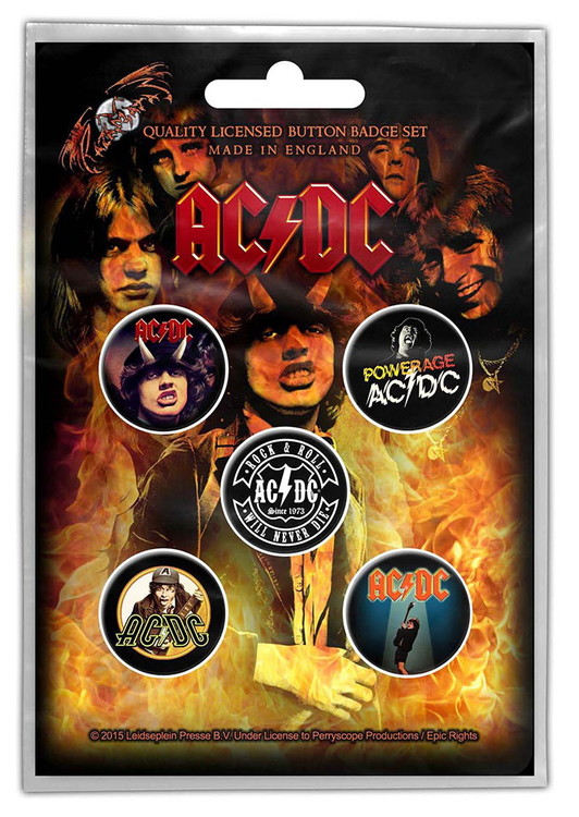 AC/DC 5-pack badge