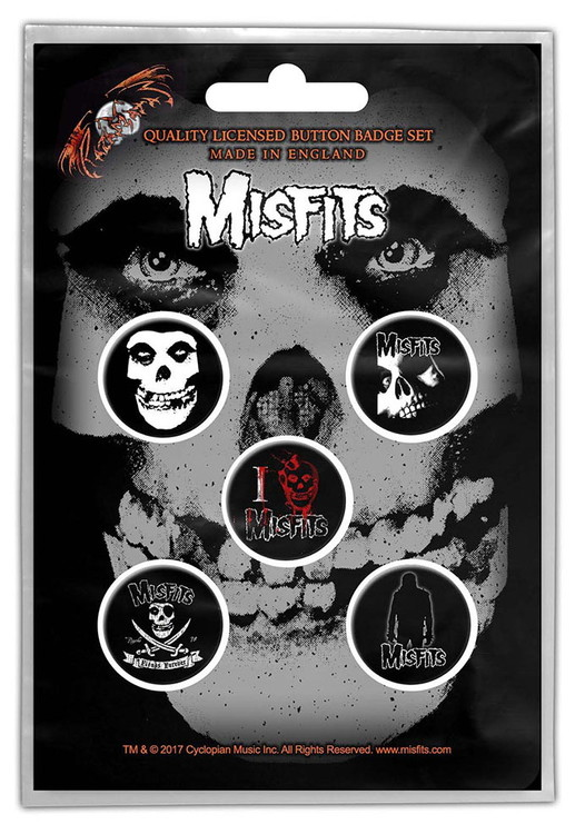 Misfits 5-pack badge