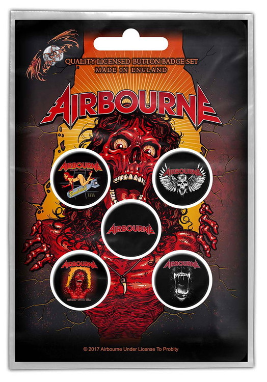 Airbourne 'Breakin' Outta Hell' 5-pack badge