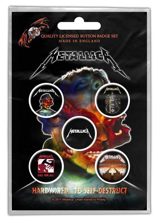 Metallica 'Hardwired To Self Destruct' 5-pack badge